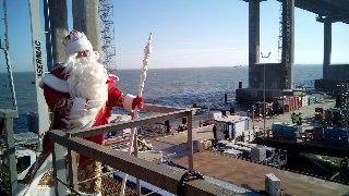 Дед Мороз из Великого Устюга провел волшебную проверку Крымского моста
